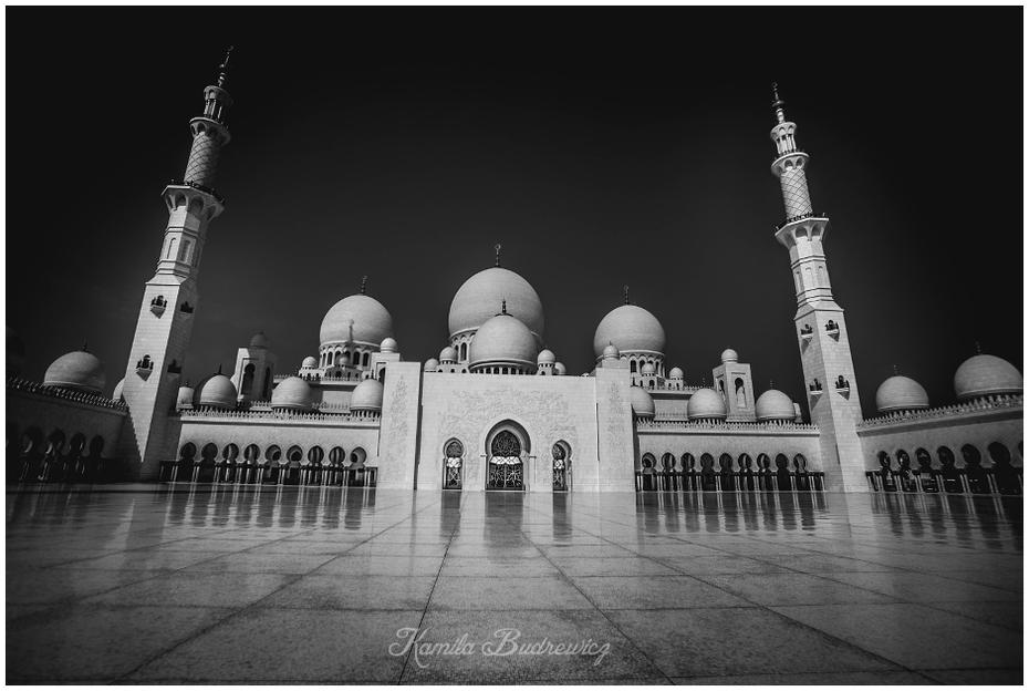 Wielki Meczet Abu Dhabi 0 nikon d750 Sigma 15-30mm f/3.5-4.5 Aspherical biały czarny i biały punkt orientacyjny fotografia monochromatyczna fotografia architektura monochromia łuk miejsce kultu